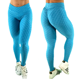 SCRUNCH BOOTY TEXTURE WAVE SKY BLUE LEGGINGS - Iris Fitness home of good quality leggings with really good prices