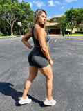 IRIS FITNESS SHORTS BUTT SCRUNCH  DARK GRAY SHORTS also called Booty Scrunch Leggings