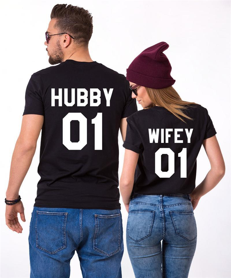 Hubby and Wifey Matching T-shirt