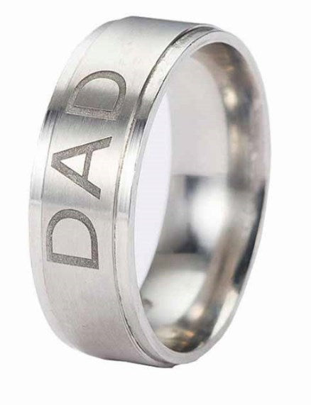 Stainless Steel 'DAD'- Men's Ring - AvantgardExchange.com