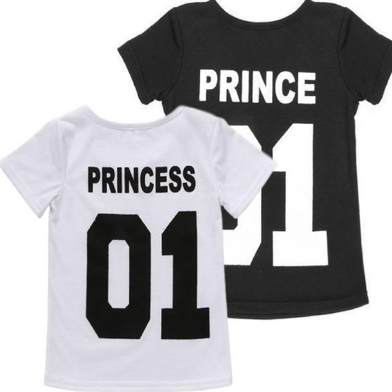 Kids Princess & Prince Short Sleeve T-Shirt - AvantgardExchange.com