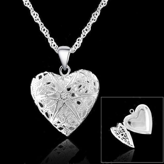 925 Sterling Silver Jewelry Heart Locket