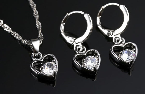 925 Sterling Silver Necklace/Earrings/Pendant Set