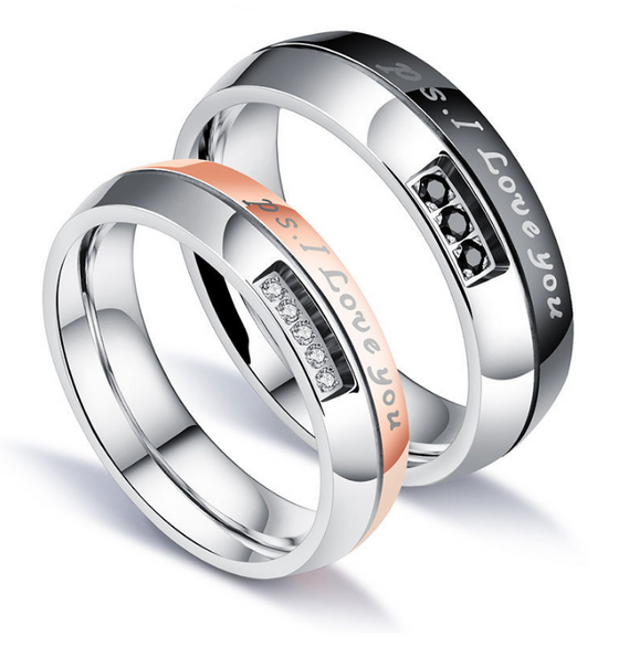 Couples Stainless Steel Rings- P.S. - AvantgardExchange.com