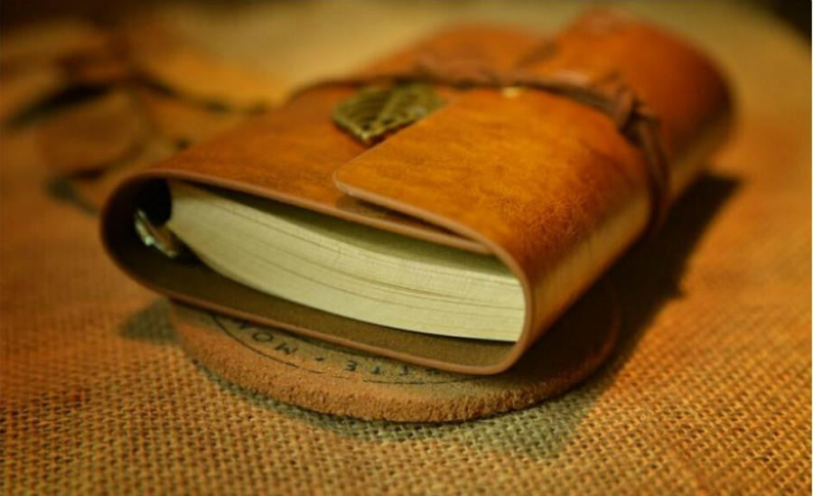 Soft Cover Vintage Leaf Leather Travel Journal - AvantgardExchange.com