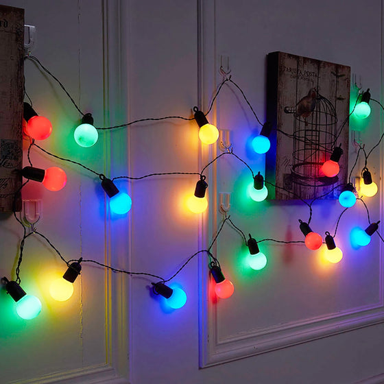 LED String Globe Light Bulbs Christmas Lights