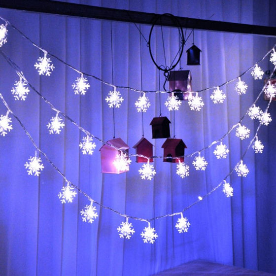 Christmas Tree Snowflakes Fairy String Led Lights