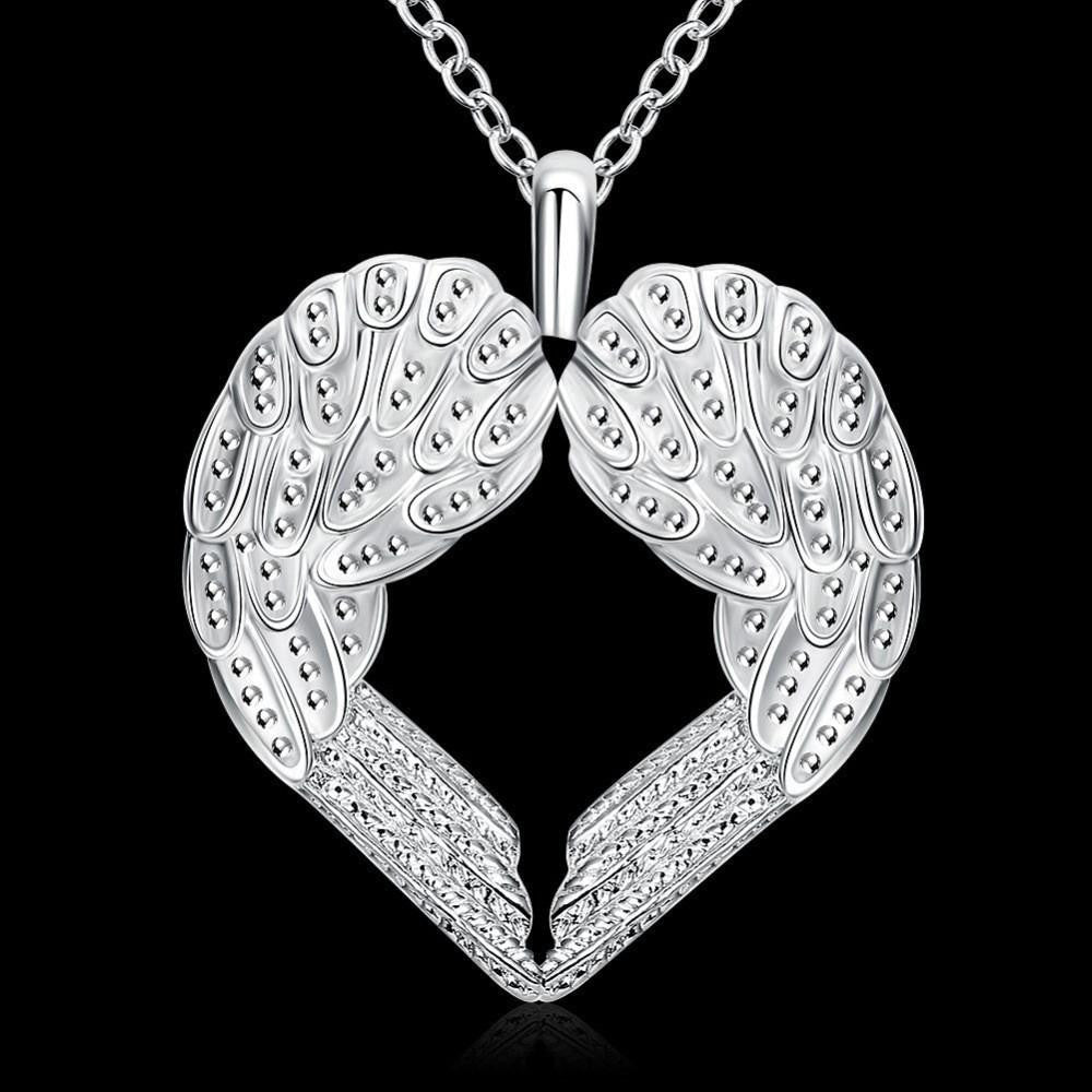 Heart Shape Angel Wings Necklace - AvantgardExchange.com