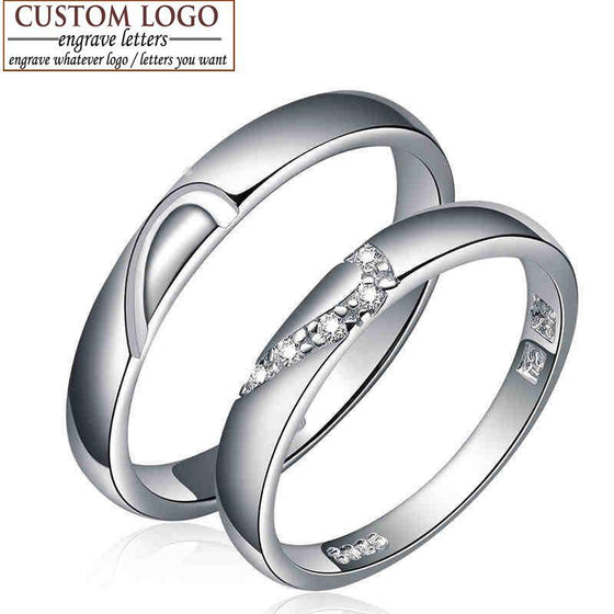 Silver Customized Couple Ring - AvantgardExchange.com