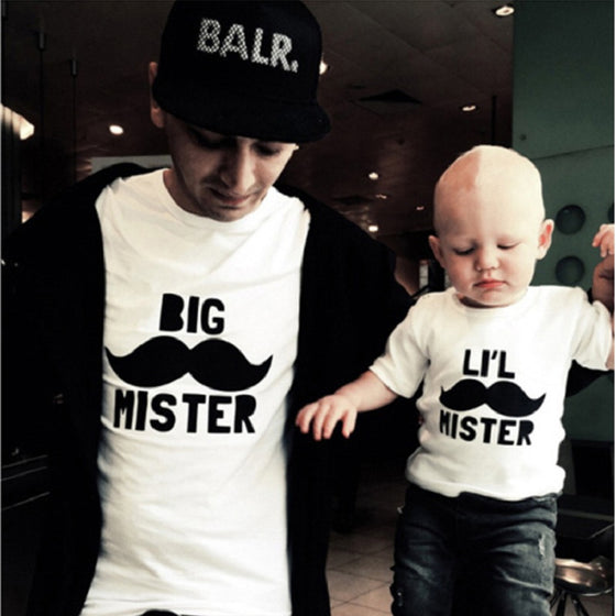 Big and Li'l Mister Matching Shirts