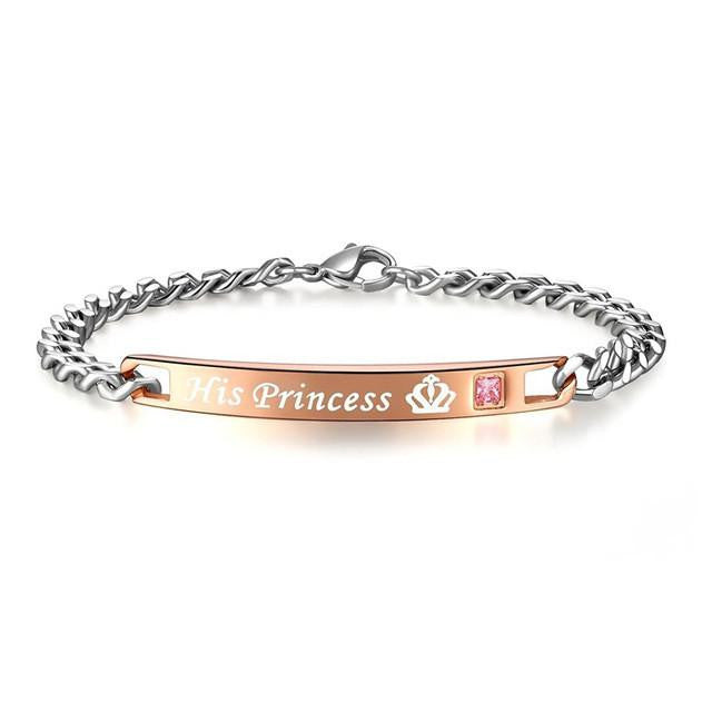 His Princess Her Prince Couple Charm Bracelets - AvantgardExchange.com