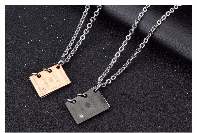 """Love Story"" Couple Necklace"