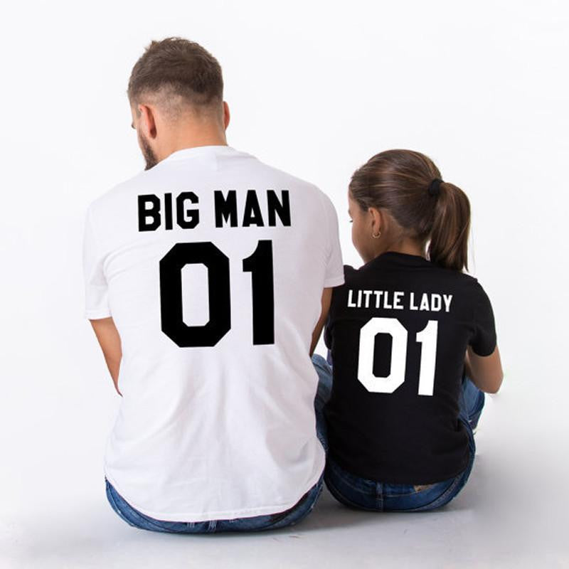 Big Man Little Lady Father Daughter Matching Shirts