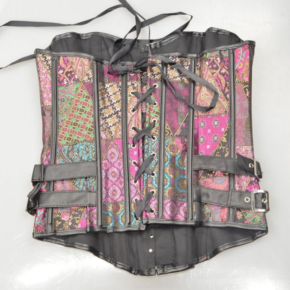Steampunk bustier- Pink and Teal - AvantgardExchange.com