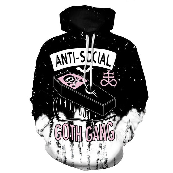 The Anti Social Printed Hoodie - AvantgardExchange.com
