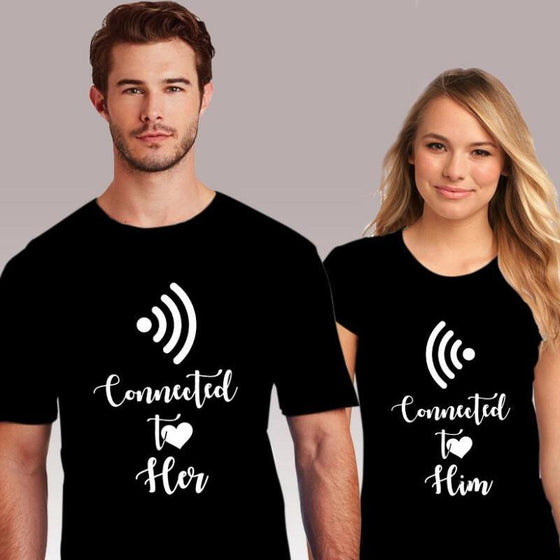 Connected To Her and Him Shirts - AvantgardExchange.com