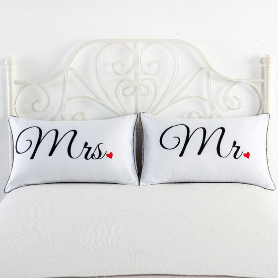 Mr. and Mrs. Pillow Cases - AvantgardExchange.com