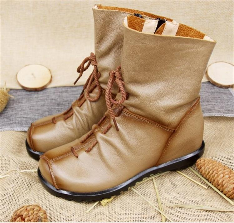 Casual Genuine Leather Warm Booties- Winter - AvantgardExchange.com