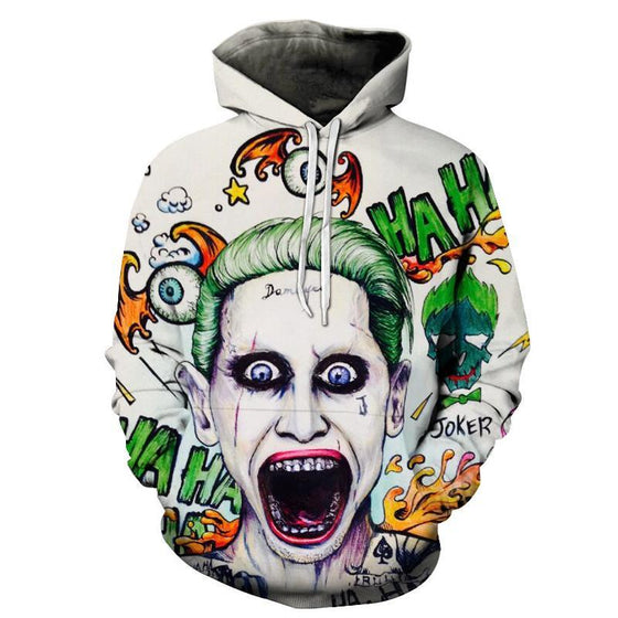 The Joker Printed Hoodie - AvantgardExchange.com