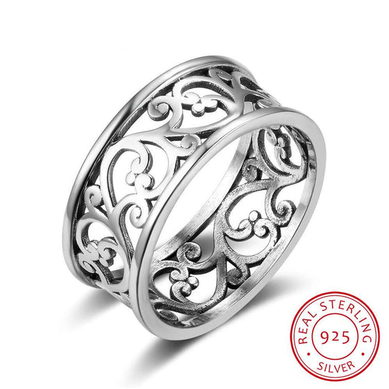 925 Sterling Silver Ring- Vintage Vine