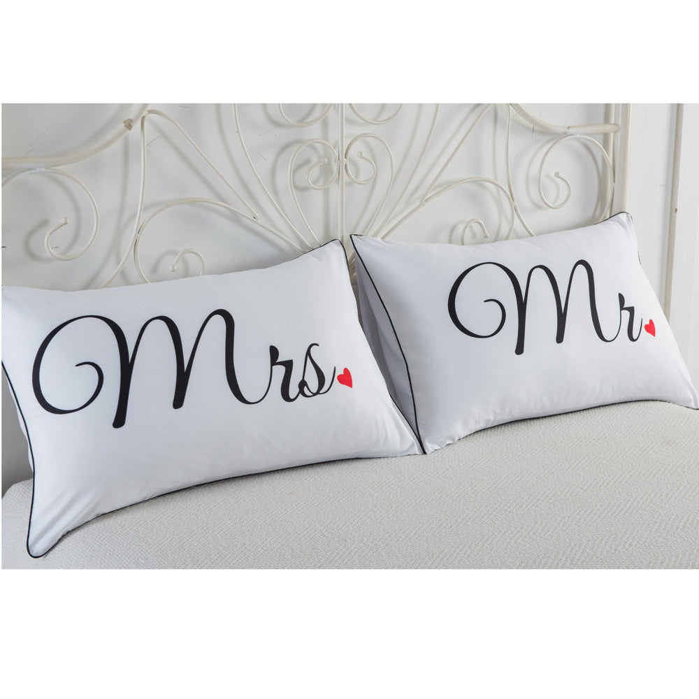 Set of 2 Couples Pillow Cases- Various - AvantgardExchange.com