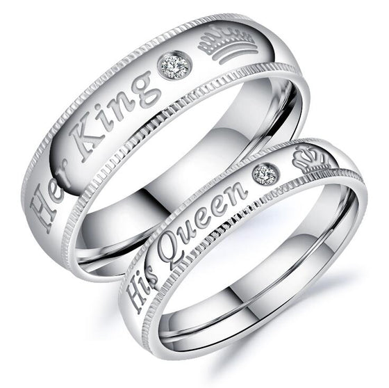 king and queen couple rings