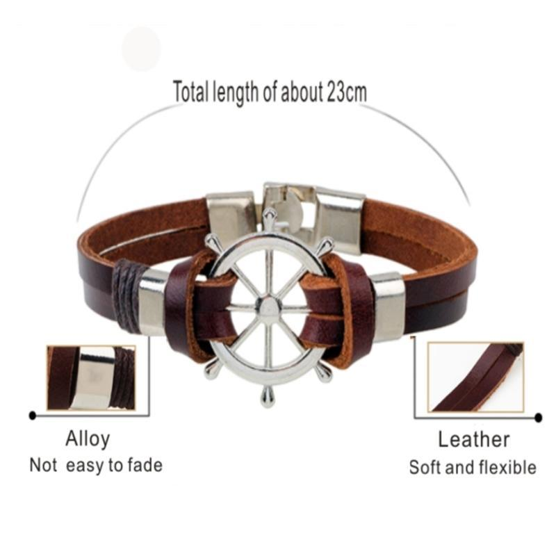 Nautical-Themed Bracelet- Captain's Wheel - AvantgardExchange.com