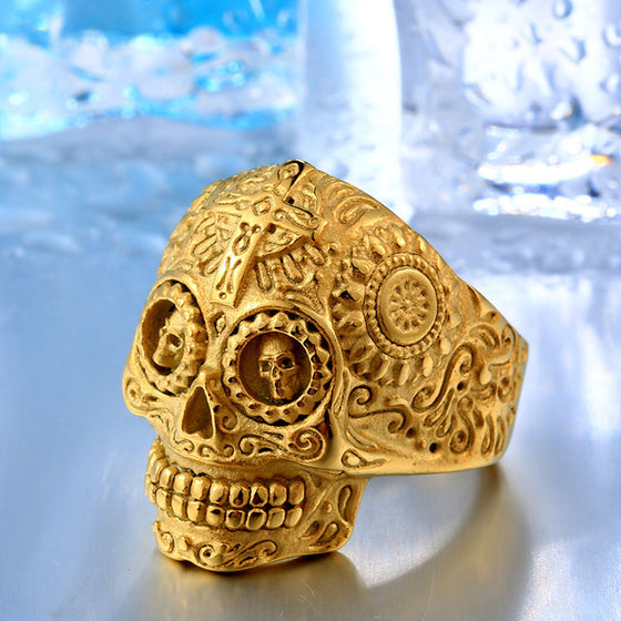 Skull Ring- Gothic Carving - AvantgardExchange.com