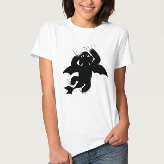 Crazy Cat T-shirt- Women SPCA - AvantgardExchange.com