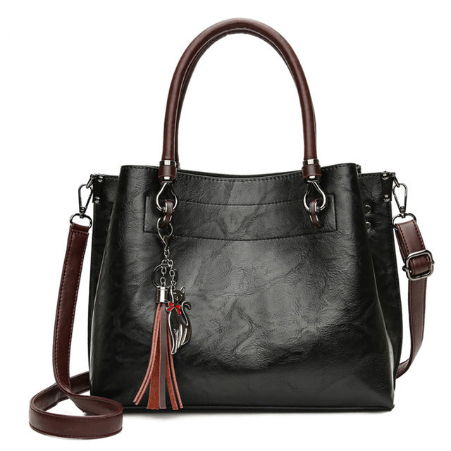 Faux Leather Vintage Tassel Bag - AvantgardExchange.com