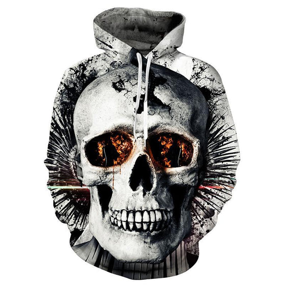 Orange Socket Skull Hoodie - AvantgardExchange.com