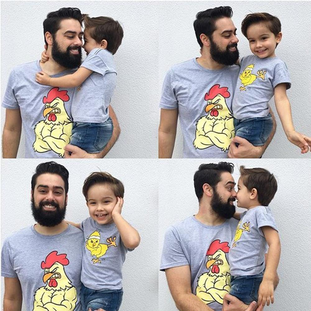 Strong Chicken Father and Son Matching Shirts - AvantgardExchange.com
