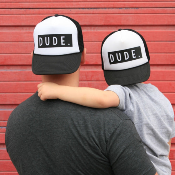 DUDE Father and Son Trucker Hat - AvantgardExchange.com