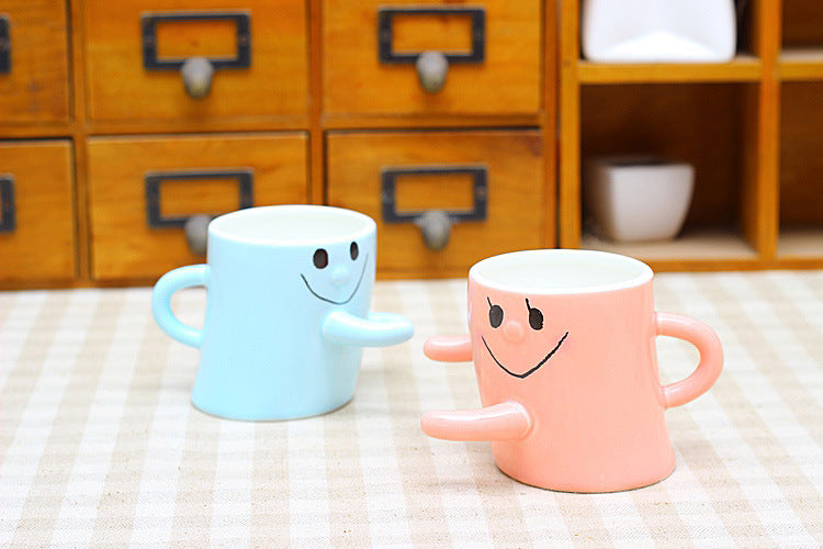 The Smiling Hug Ceramic Mugs - AvantgardExchange.com