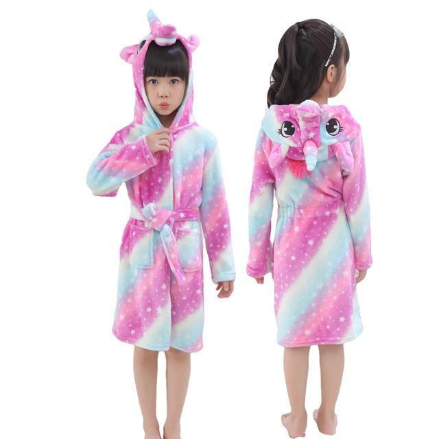 Rainbow Unicorn Beach Baby Bath Robe