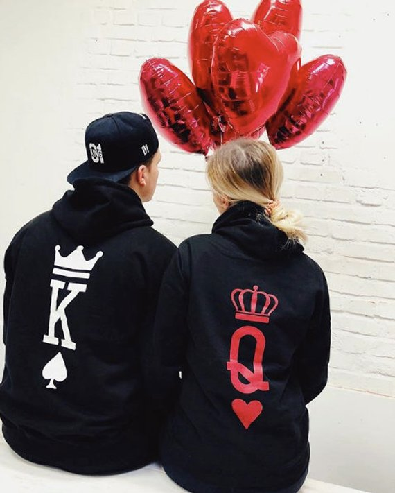 King and Queen Cards Hoodies