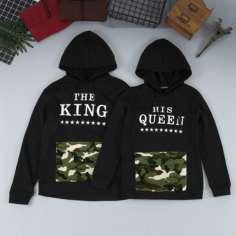 King and Queen Camouflage Hoodies
