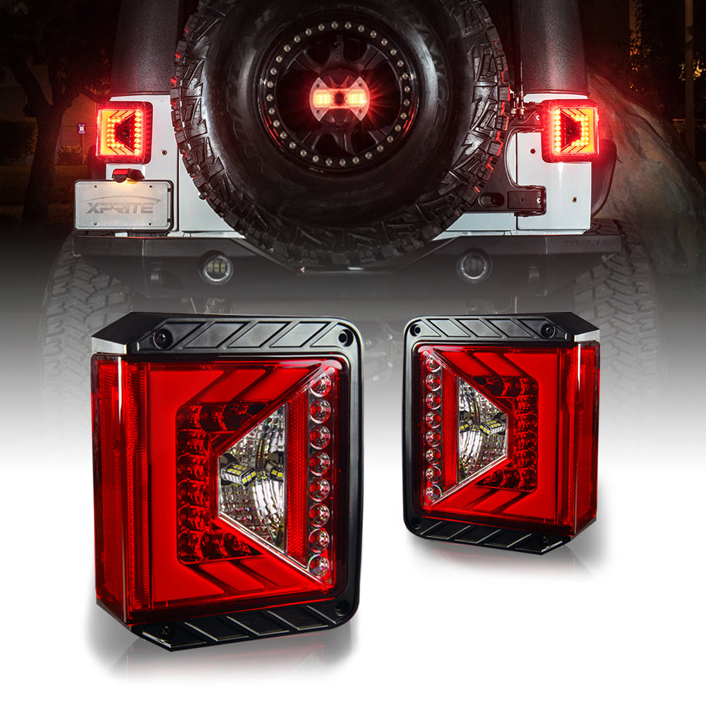 Rival Series Cree Led Taillights For 07 17 Jeep Wrangler