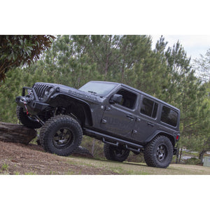 Bushwacker Flat Style 4pc Fender Flare for 2018+ JLU Jeep Wrangler Unlimited