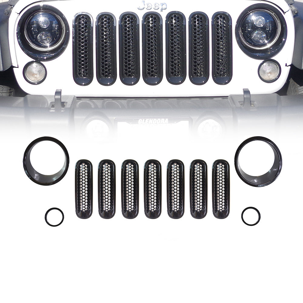 Grille Insert Combo for Jeep Wrangler ('07-'17) - Altitude Jeep