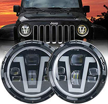 Venom 100w Led Headlights with DRL and Turn Signal Halo for '07-'18 JK JKU Jeep Wrangler
