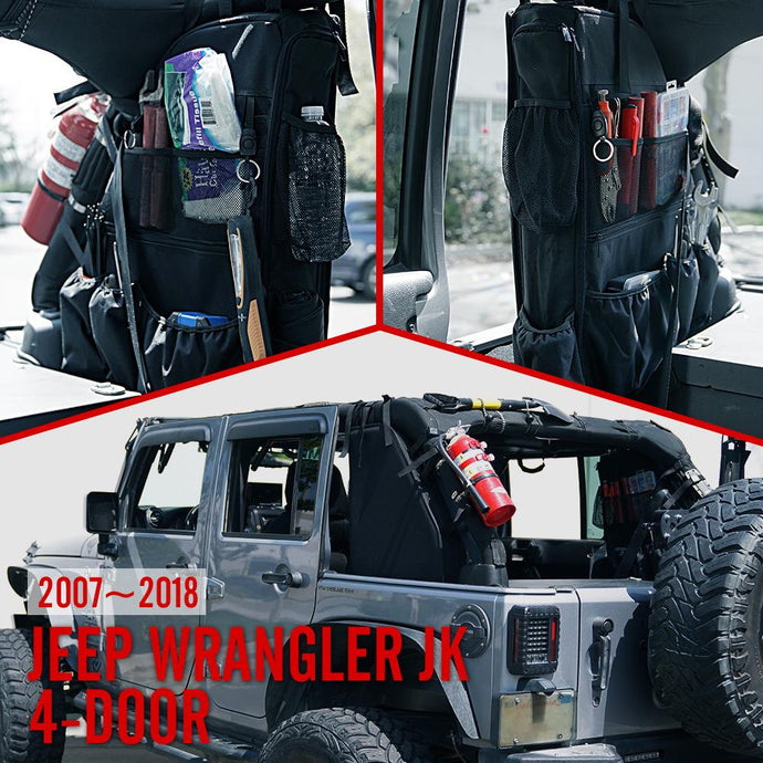 Rugged Roll Bar Storage Bags for '07-'18 4dr JKU Jeep Wrangler