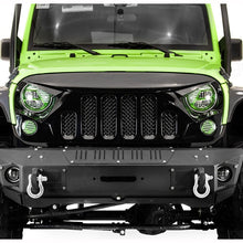 Mad Skull 6 Slot Grille in Matte or Gloss for '07-'18 JK JKU Jeep Wrangler