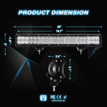 20'' 126W Spot/Flood Combo LED Light Bar - Altitude Jeep