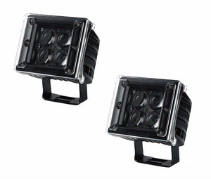 "20W 3"" CREE LED Spot Pods w/ Amber, Blue, Red, Clear Covers (Pair) - Altitude Jeep"