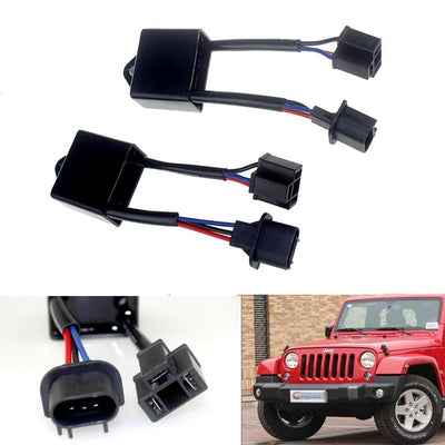 H4 To H13 Anti-Flicker Decoder Harness (2x) - Altitude Jeep