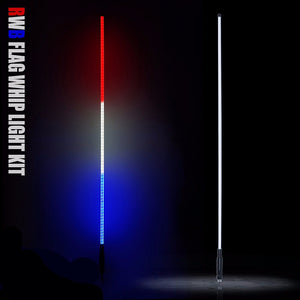 5ft LED Flag Pole/Safety Whip - Altitude Jeep