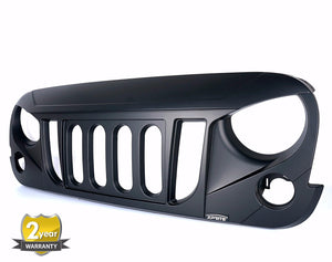 Transformer Grill for '07-'17 Jeep Wrangler w/ Mesh Insert - Altitude Jeep
