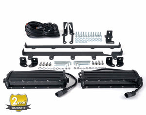 "JK 8"" White LED Vertical Grill Kit - Altitude Jeep"