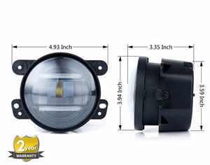 CREE LED Fog Lights w/ DRL for Jeep Wrangler '97-'18 - Altitude Jeep